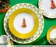 Jogo de Jantar Abacaxi em Porcelana - 06 Pessoas, Amarelo,Branco | WestwingNow