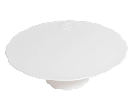 Prato para Bolo em Porcelana Aika - Branco, Branco | WestwingNow