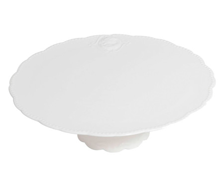 Prato para Bolo em Porcelana Aika - Branco | WestwingNow