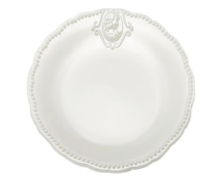 Prato Raso em Porcelana Haydee - Branco | WestwingNow
