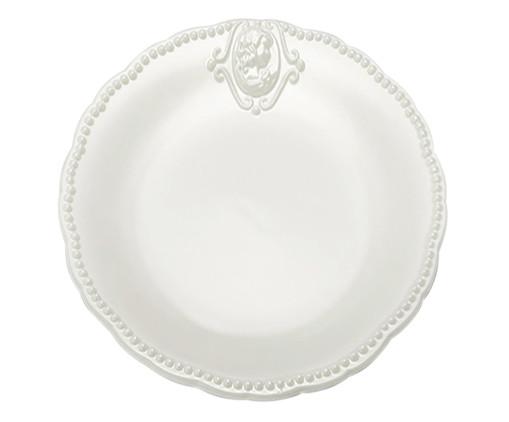 Prato para Sobremesa Haydee em Porcelana - Branco, Branco   WestwingNow
