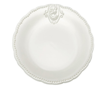 Prato para Sobremesa Haydee em Porcelana - Branco | WestwingNow