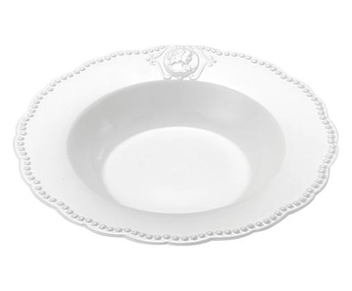 Prato Fundo em Porcelana Haydee - Branco, Branco | WestwingNow
