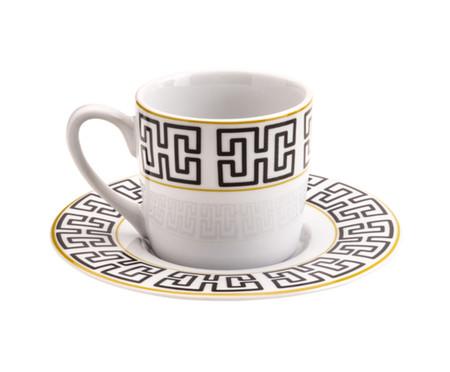 Jogo de Xícaras para Café com Pires em Porcelana Lavini | WestwingNow
