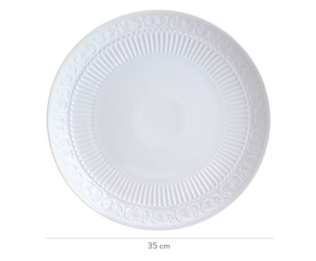 Travessa de Porcelana York - Branca | WestwingNow