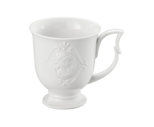 Caneca em Porcelana Haydee - Branco, Branco | WestwingNow