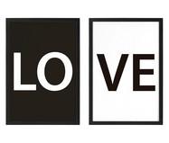 Jogo de Quadros Love | WestwingNow