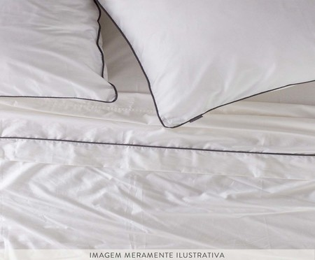 Lençol Inferior com Elástico Basic Branco - 250 Fios | WestwingNow