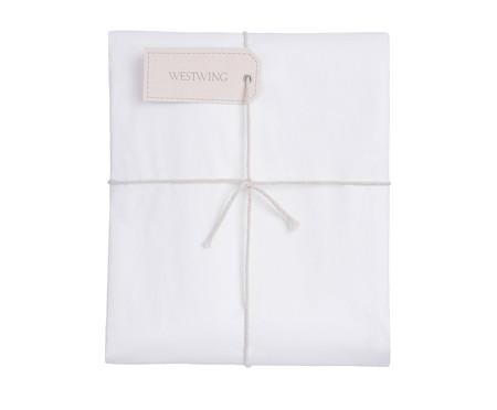 Duvet com Vivo Basic Branco e Gris - 250 Fios | WestwingNow