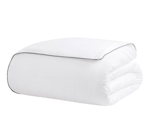 Duvet com Vivo Basic Branco e Gris - 250 Fios, Gris | WestwingNow