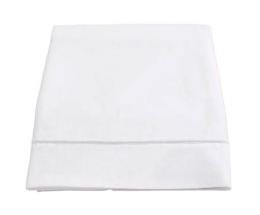 Lençol Superior com Vivo Basic Branco - 250 Fios, Branco | WestwingNow