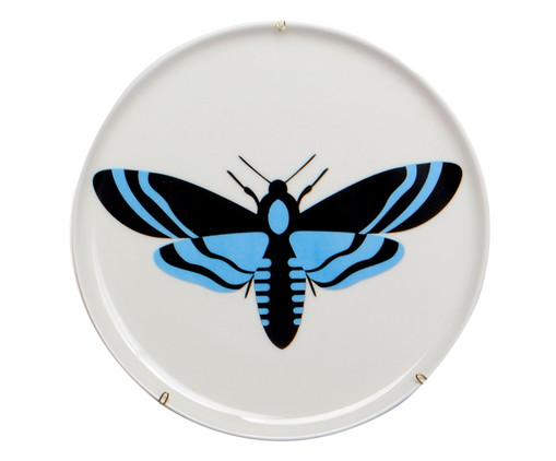 Prato Decorativo em Porcelana Lea - Colorido, Branco, Azul | WestwingNow