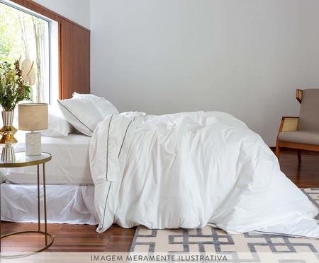 Fronha com Vivo Basic Branca e Gris - 250 Fios | WestwingNow