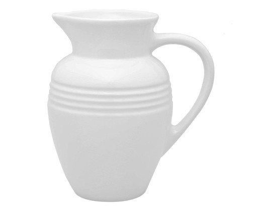 Jarra em Cerâmica - Branca, Branco   WestwingNow