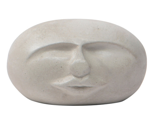 Adorno Face Brian - Cimento, Cinza   WestwingNow