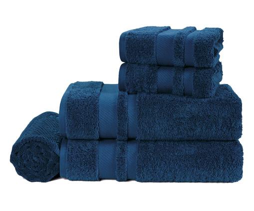 Jogo de Toalhas Banhão Lorenzi Marino - 560gr, Azul Marinho | WestwingNow
