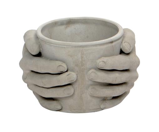 Cachepot de Cimento Joela - Cinza, Cinza   WestwingNow