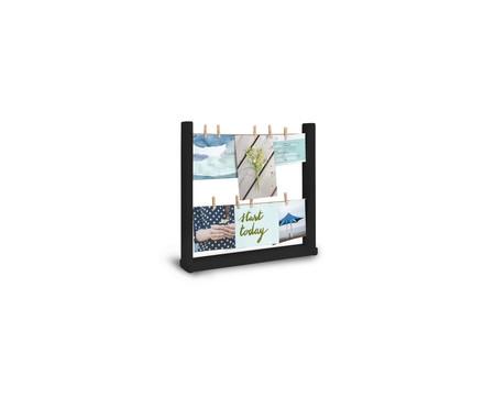 Porta-Retrato em Madeira Caio - Preto | WestwingNow