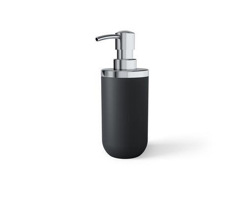 Porta Sabonete Liquido em Resina Dianna - Preto, Cromo e Preto | WestwingNow