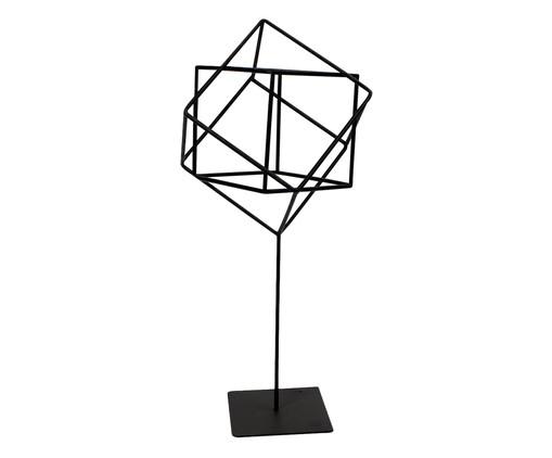 Adorno Cubo - Preto, Preto | WestwingNow