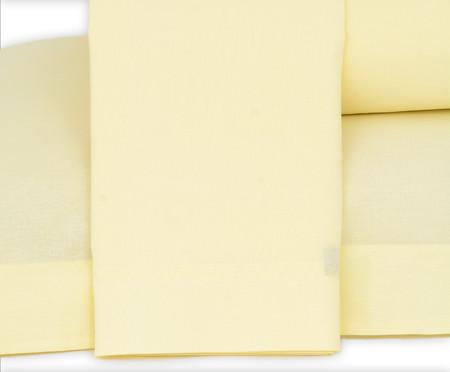 Jogo de Lençol Lise Amarelo Pastel - 150 Fios | WestwingNow