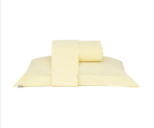 Jogo de Lençol Lise Amarelo Pastel - 150 Fios, Amarelo Pastel | WestwingNow