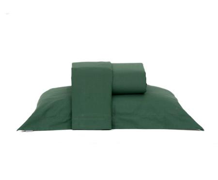 Jogo de Lençol Lise Verde Militar - 150 Fios | WestwingNow