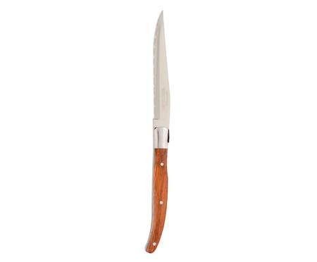 Jogo de Facas e Cepo Laguiole Madeira Mista | WestwingNow