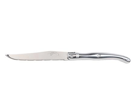 Jogo de Facas e Cepo Laguiole - Prateado | WestwingNow