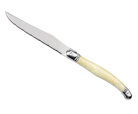 Jogo de Facas e Cepo Laguiole - Marfim | WestwingNow