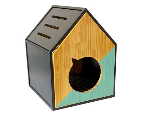 Casa para Pet em Veludo Frajola - Turquesa | WestwingNow