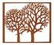 Adorno de Parede Árvores - Acobreado, Marrom, Cobre | WestwingNow