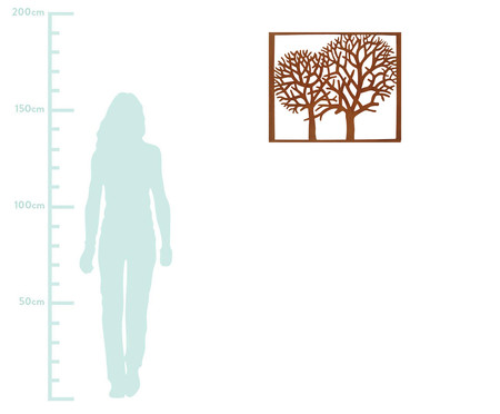 Adorno de Parede Árvores - Acobreado | WestwingNow