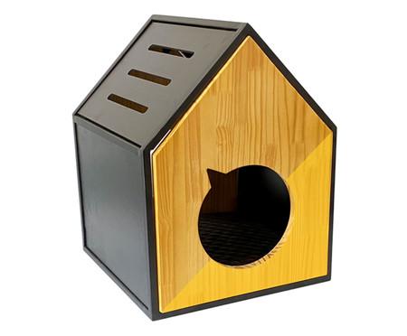 Casa para Pet em Veludo Frajola - Amarela | WestwingNow