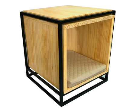 Mesa Lateral BoX Pet - Bege | WestwingNow