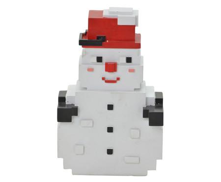 Enfeite Boneco de Neve Pixel Branco -  13X20cm   WestwingNow