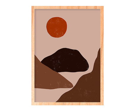 Quadro Sun And Mountain Pinus - 45,5x63cm | WestwingNow