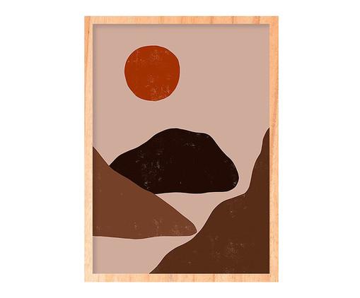 Quadro Sun And Mountain Pinus - 45,5x63cm, Colorido | WestwingNow