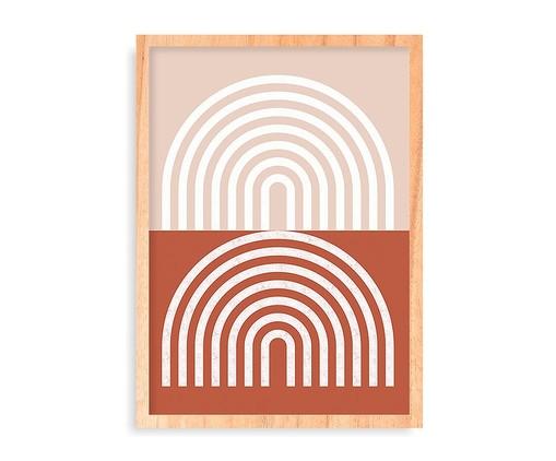 Quadro Retro Rainbows Pinus - 45,5x63cm, Terracota | WestwingNow