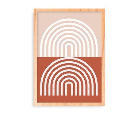 Quadro Retro Rainbows Pinus - 45,5x63cm | WestwingNow
