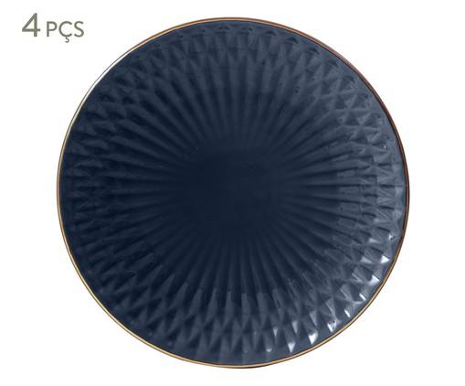 Jogo de Pratos Rasos Fractal Atlântico - Azul, Azul | WestwingNow