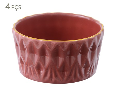Jogo de Bowls Fractal Terracota - 04 Pessoas | WestwingNow