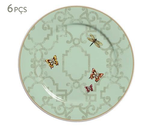 Jogo de Pratos Rasos em Cerâmica Liberte 06 Pessoas - Verde, Verde | WestwingNow