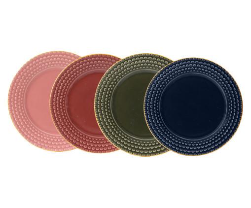 Jogo de Pratos para Sobremesa Escama Colors - 04 Pessoas, Colorido | WestwingNow
