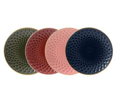 Jogo de Pratos para Sobremesa Fractal Colors - 04 Pessoas | WestwingNow