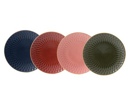 Jogo de Pratos Rasos Fractal Colors - 04 Pessoas | WestwingNow