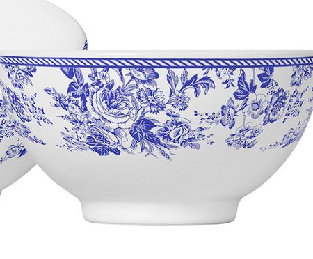 Jogo de Bowls em Cerâmica Blue Garden 06 Pessoas - Branco e Azul | WestwingNow