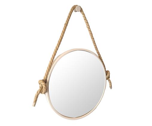 Espelho com Alça Adnet Rope - Branco, Branco, Bege, Espelhado | WestwingNow