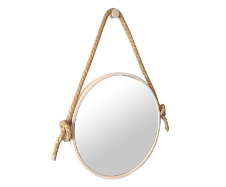 Espelho de Parede com Alça Adnet Rope - Branco | WestwingNow