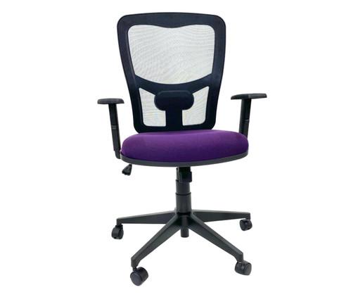 Cadeira de Escritório Porim - Púrpura, Preto | WestwingNow